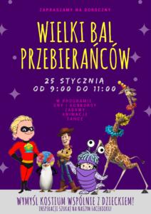 Plakat Bal Przebierańców